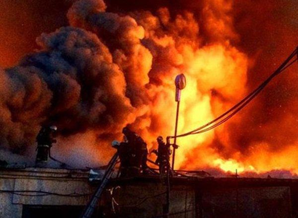 В Волгодонске произошел пожар на складе