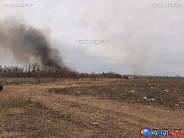 Жителей Волгодонска встревожил пожар у Цимлянского водохранилища