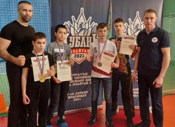 Юные спортсмены из Волгодонска завоевали пять наград на краевых соревнованиях по тайскому боксу