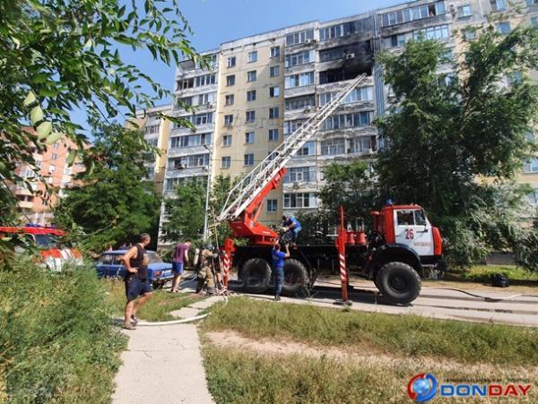 В Волгодонске загорелась квартира в многоэтажном доме